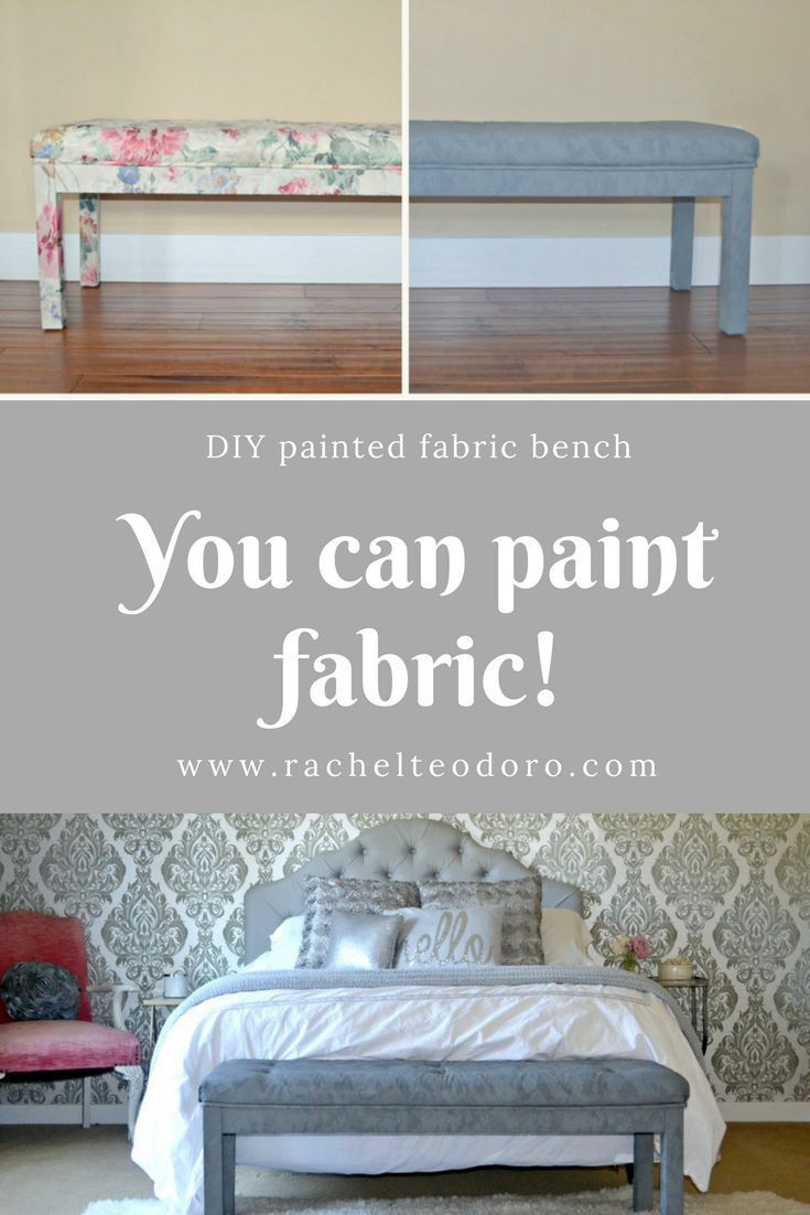 DIY Painted Fabric Bench