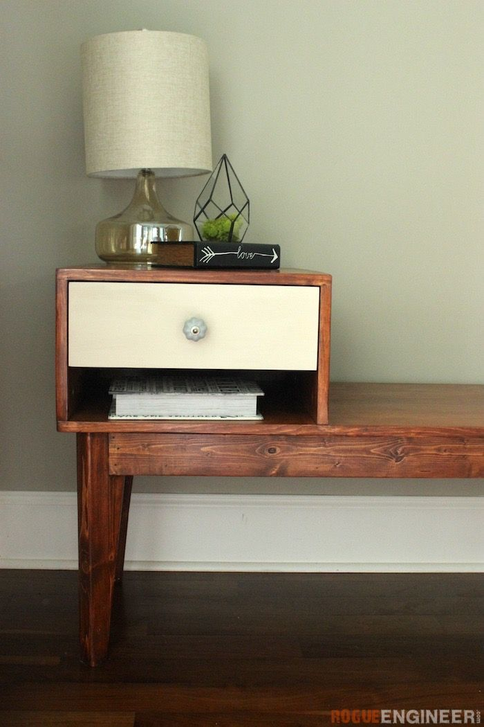 DIY Telephone Table Plans- Free DIY Plans | rogueengineer.com/ #TelephoneTable #...