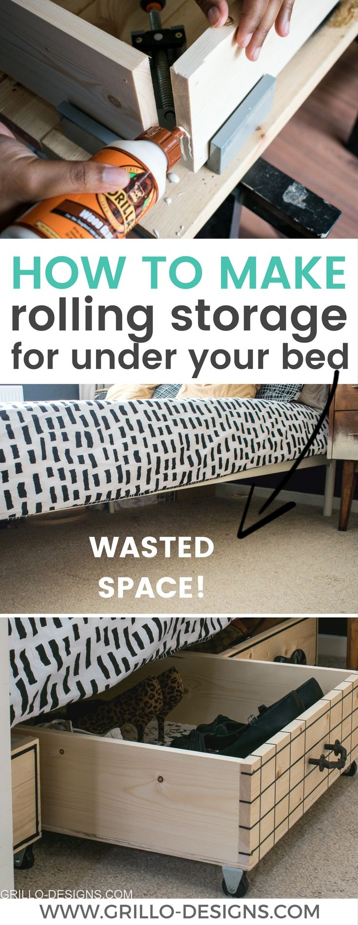 DIY Under Bed Storage Boxes (a knobs guide) • Grillo Designs