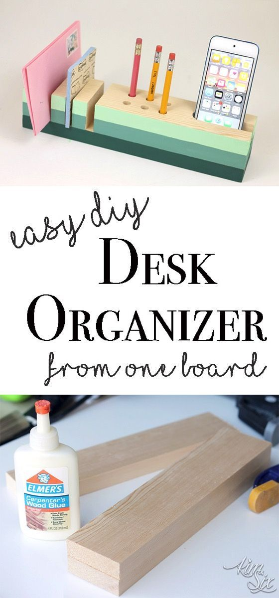Easy DIY desk organizer from a single board A great starter woodworking project