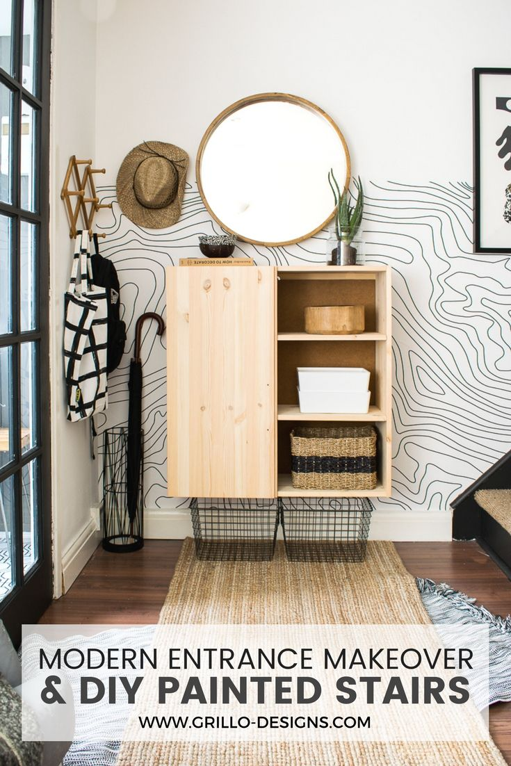 Entrance and Stairs Makeover (for small space dwellers) #ikeahacks #h