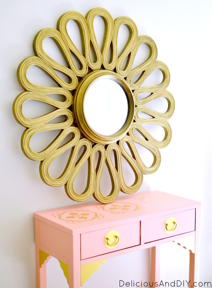 Gold Flower Mirror  Mirro Upcycle  Recycle Mirrors  Mirror Ideas  Home Decor  Go...