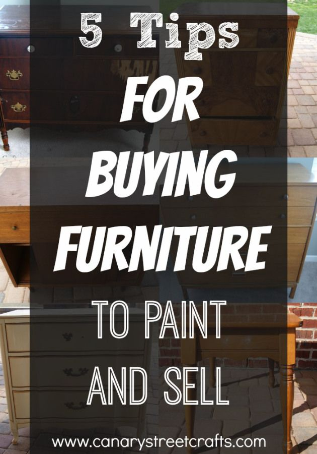 Great tips for anyone who is interested in buying used furniture to paint and re...