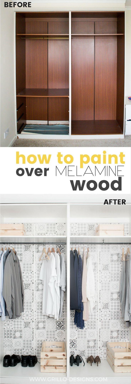 How To Paint Melamine Wood #grillodesigns #paintedfurniture
