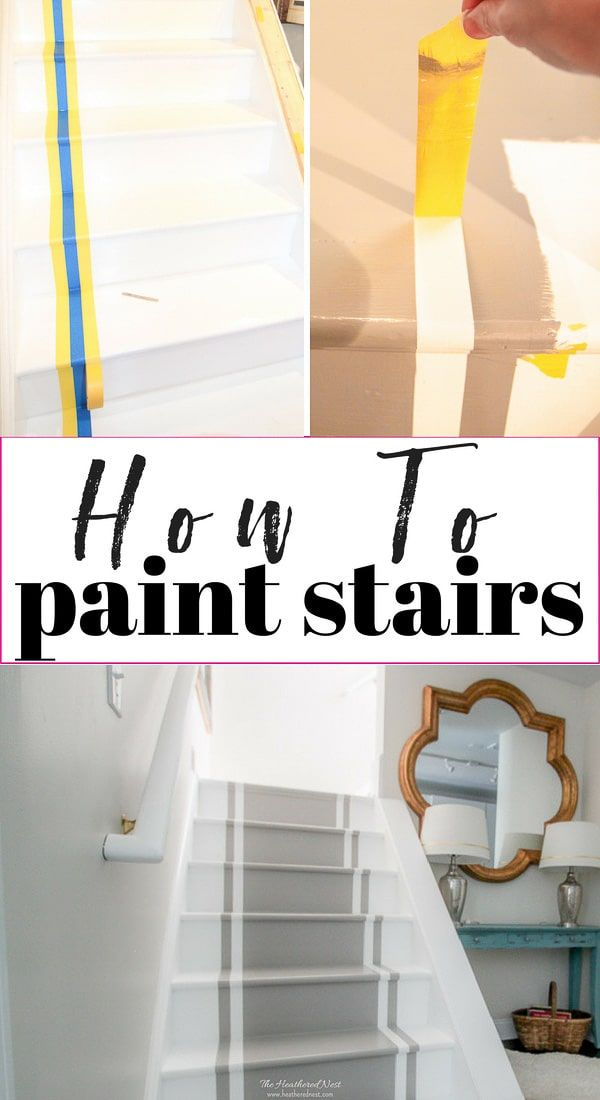 How to paint stairs. A DIY tutorial for an inexpensive stair makeover with paint...
