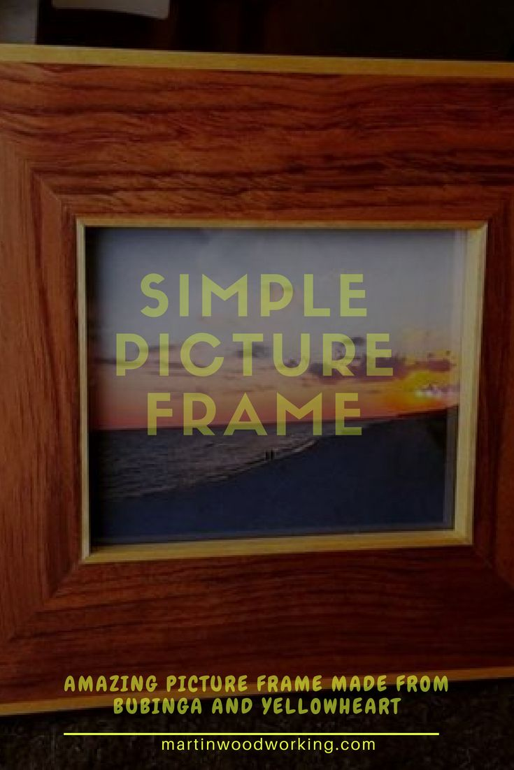 I made this picture frame out of the leftover scraps from a previous project. I ...