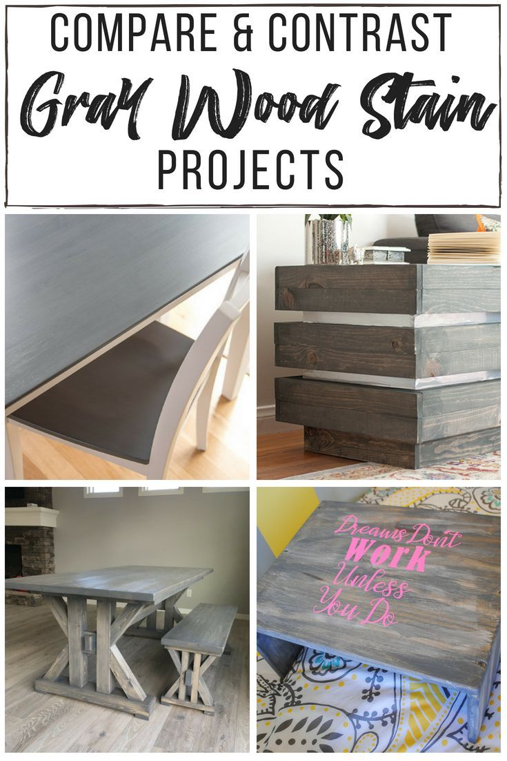 It's hard to tell how your grey wood stain projects will turn out from that litt...