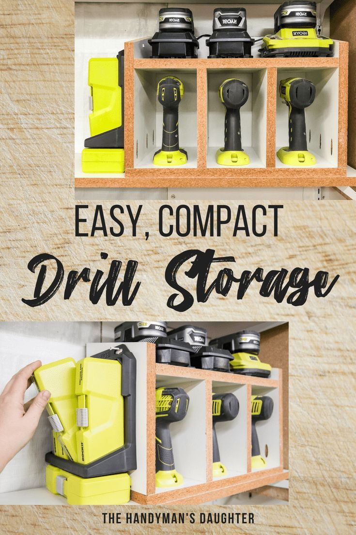Keep all your drills, batteries and bits in one compact space! This DIY cordless...