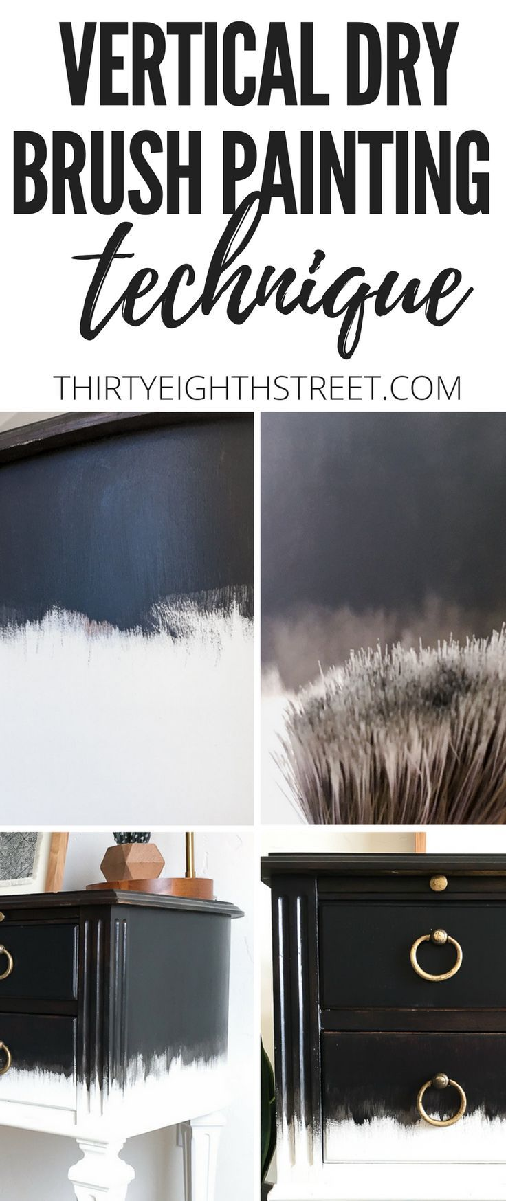 Learn How To Turn Your Furniture Into Art With This Vertical Dry Brush Painting ...