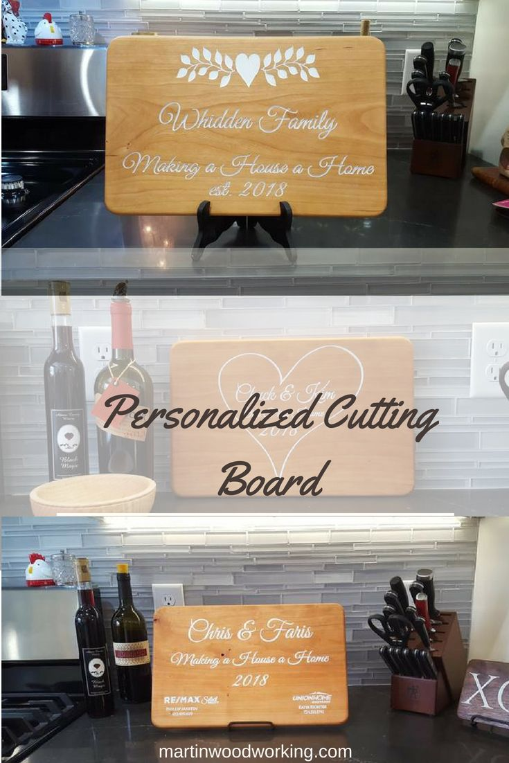 """Personalized Cutting Board     Say """"Congratulations"""" with an engraved cherry..."""