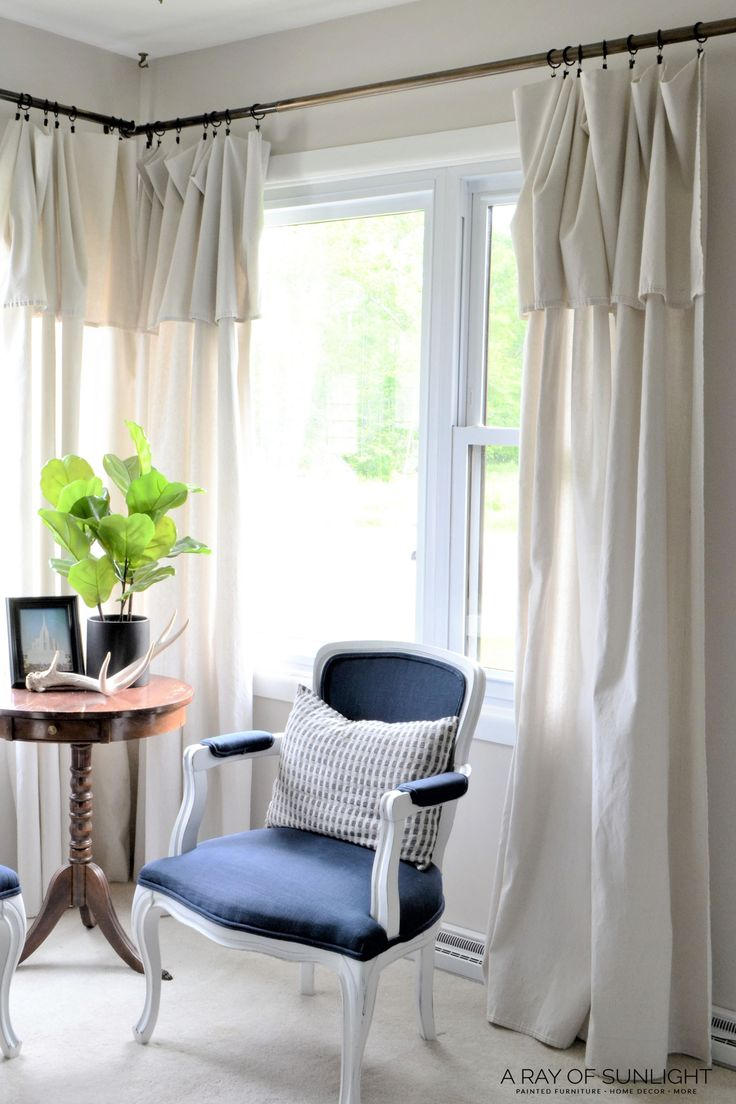 Quickly update your home on a budget with DIY modern farmhouse curtains made fro...