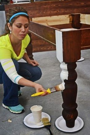 Really good tutorial -- How To Paint Furniture   Old World Chippy Distressed Pai...