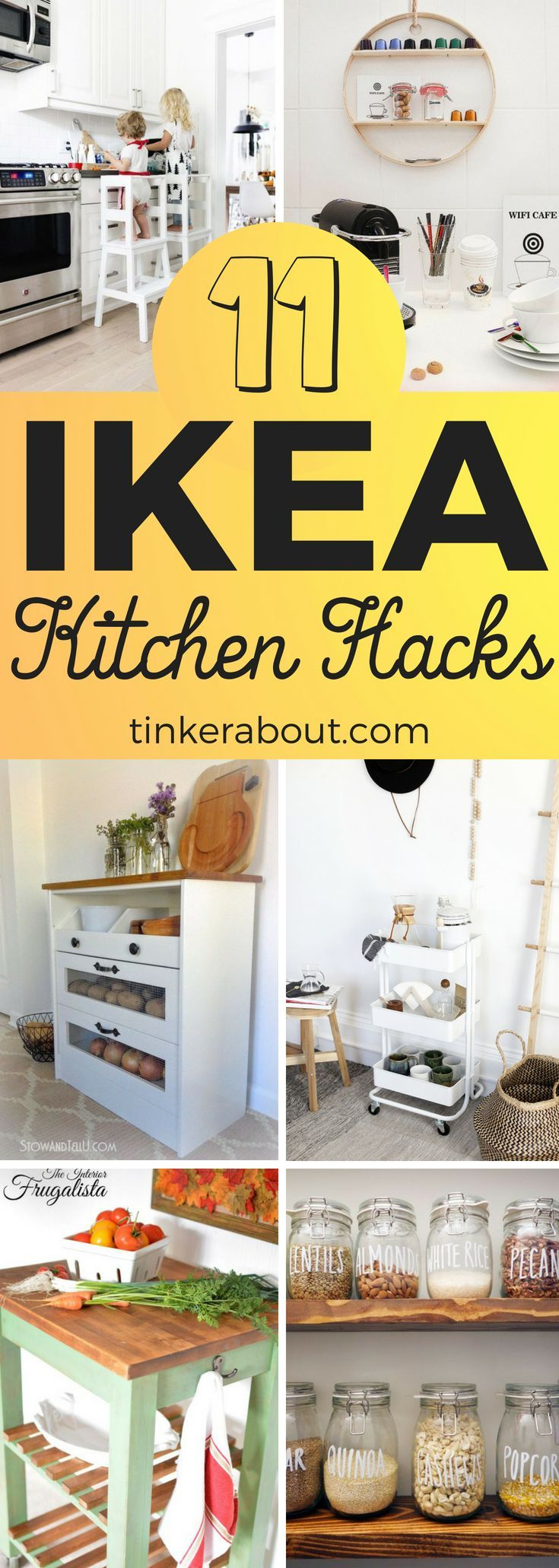 These IKEA kitchen hacks will instantly upgrade your home! Click through to see ...