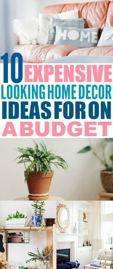 These budget home decor ideas are really great! I'm glad I found these easy DIY ...