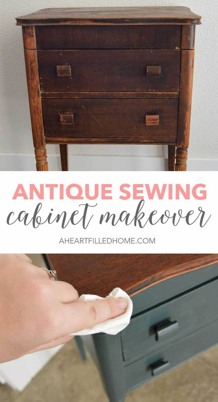 Diy Furniture This Antique Sewing Cabinet Got A Beautiful Makeover