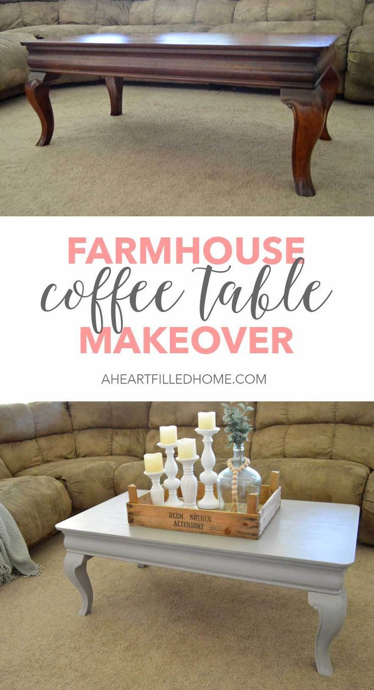 This beautiful coffee table got a farmhouse makeover with just a couple coats of...