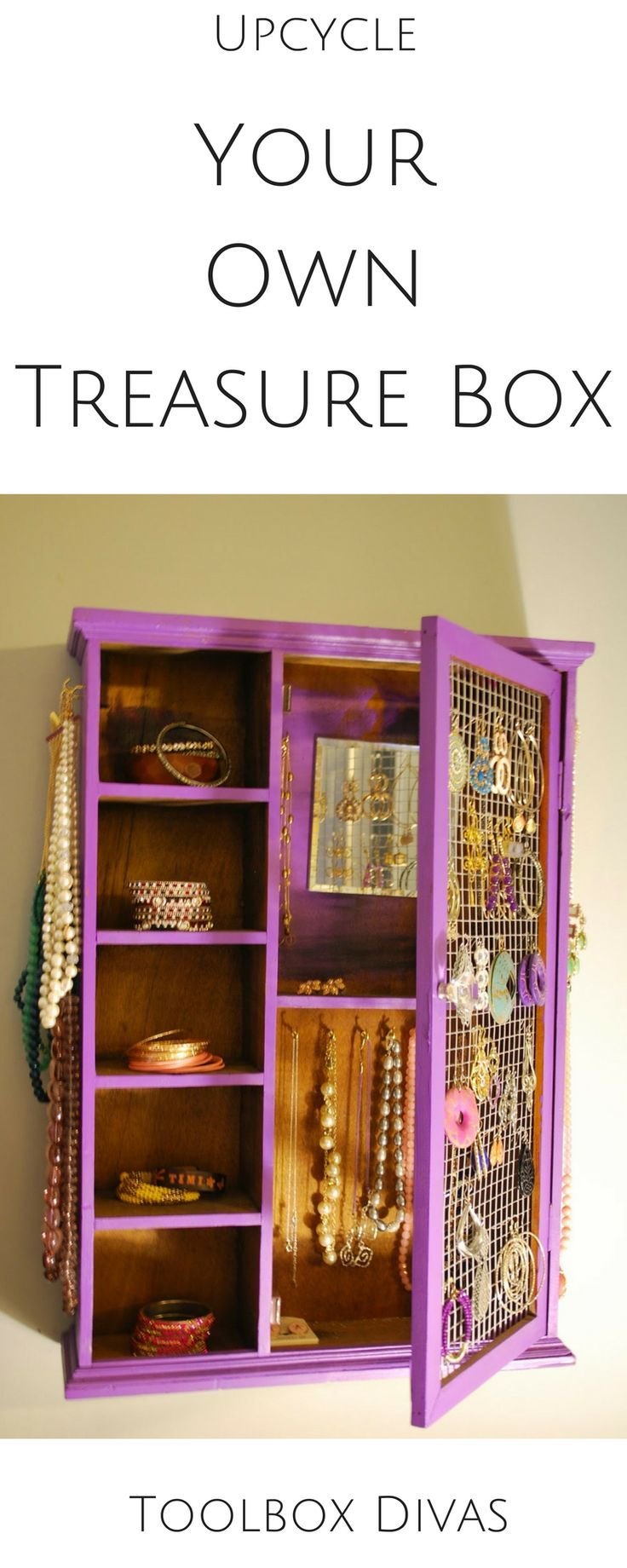 Diy Furniture Upcycle Old Cupboard Into Your Own Jewelry Box