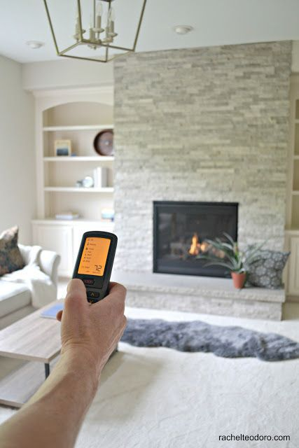 Updating a 90's Model Home Living Room Reveal with Fireside Home Solutions g...