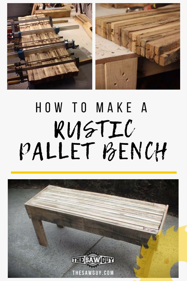 With a few pallets and tools, you can create chic pieces of furniture that is bo...