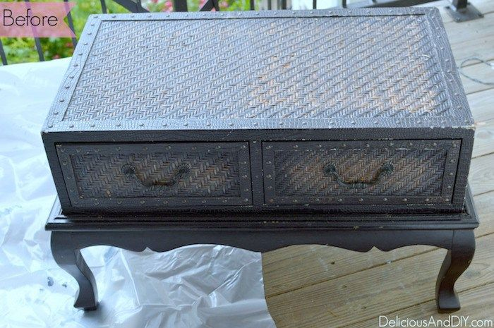 Wood Coffee Table Makeover using two tone paint technique  Painted Furniture  DI...