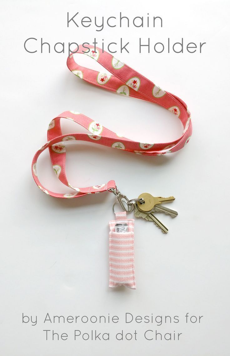 Diy Crafts Make A Simple Diy Keychain Chapstick Holder With This