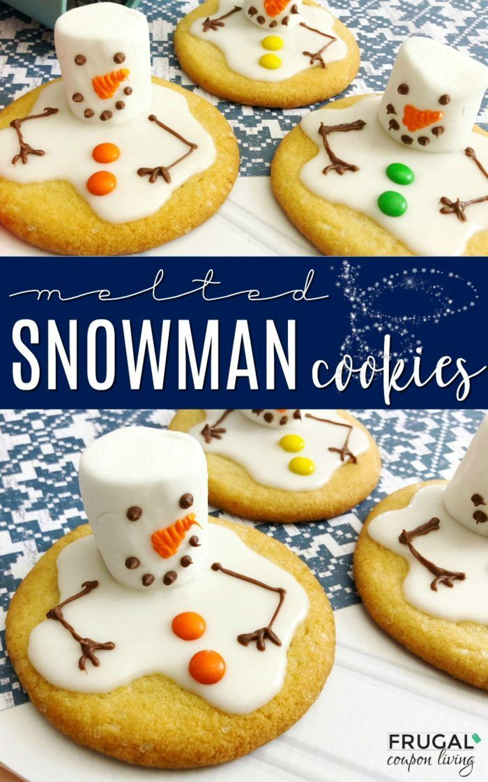 Melted Snowman Cookies | Elf on the Shelf Ideas | Cookies for Santa #FrugalCoupo...