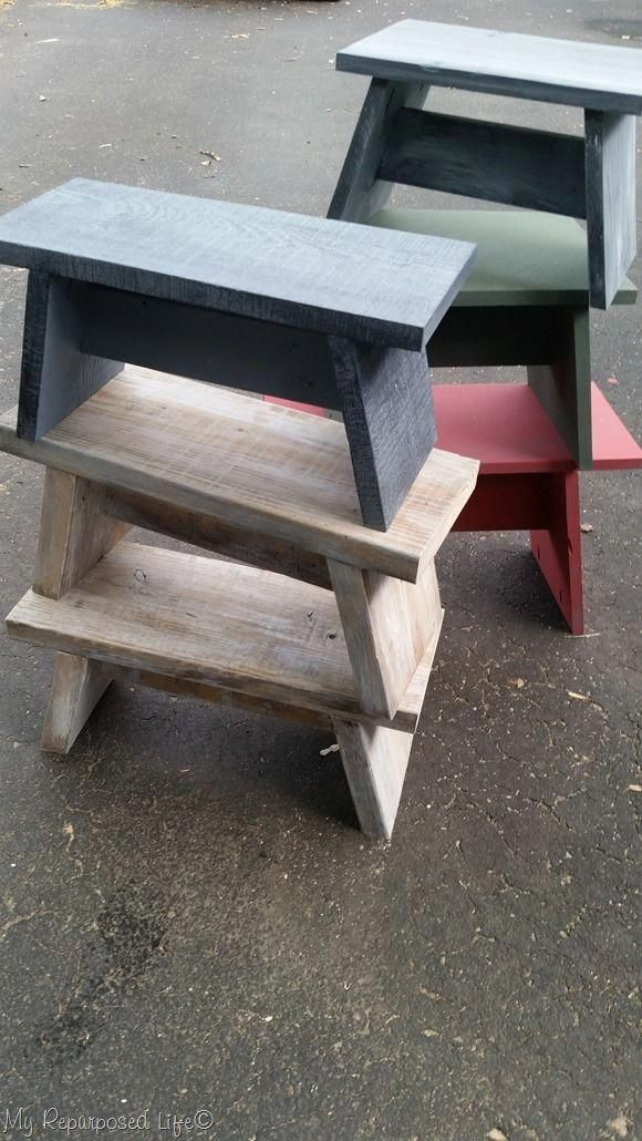 How to make useful one board stools, that are great for that top cupboard, for t...