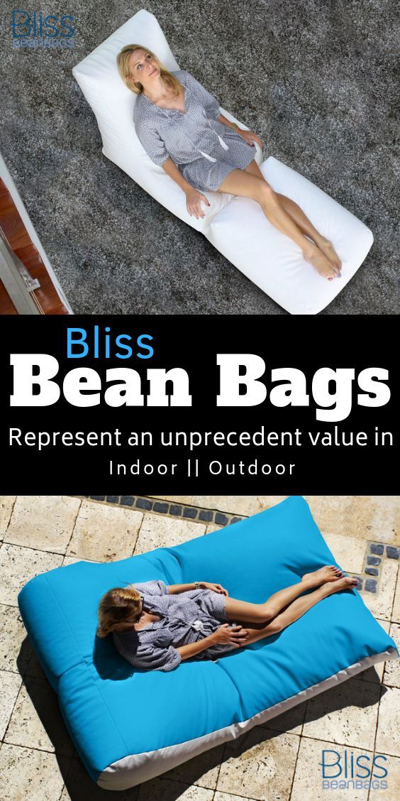 Bliss Bean Bags represent an unprecedented value in indoor and outdoor decor -Ho...