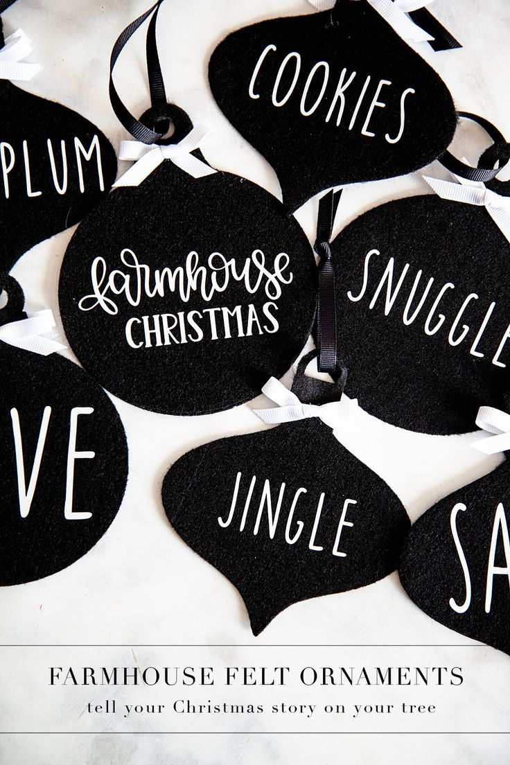 Farmhouse felt Christmas ornaments are sure to be a classic staple for years to ...