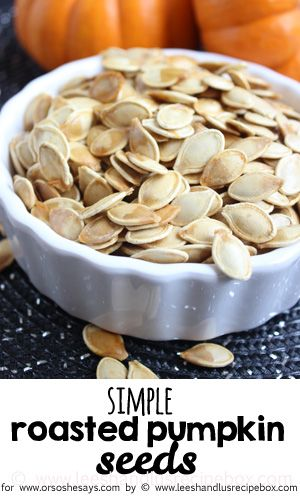 If you DREAD cleaning and roasting pumpkin seeds, then check out today's post! L...