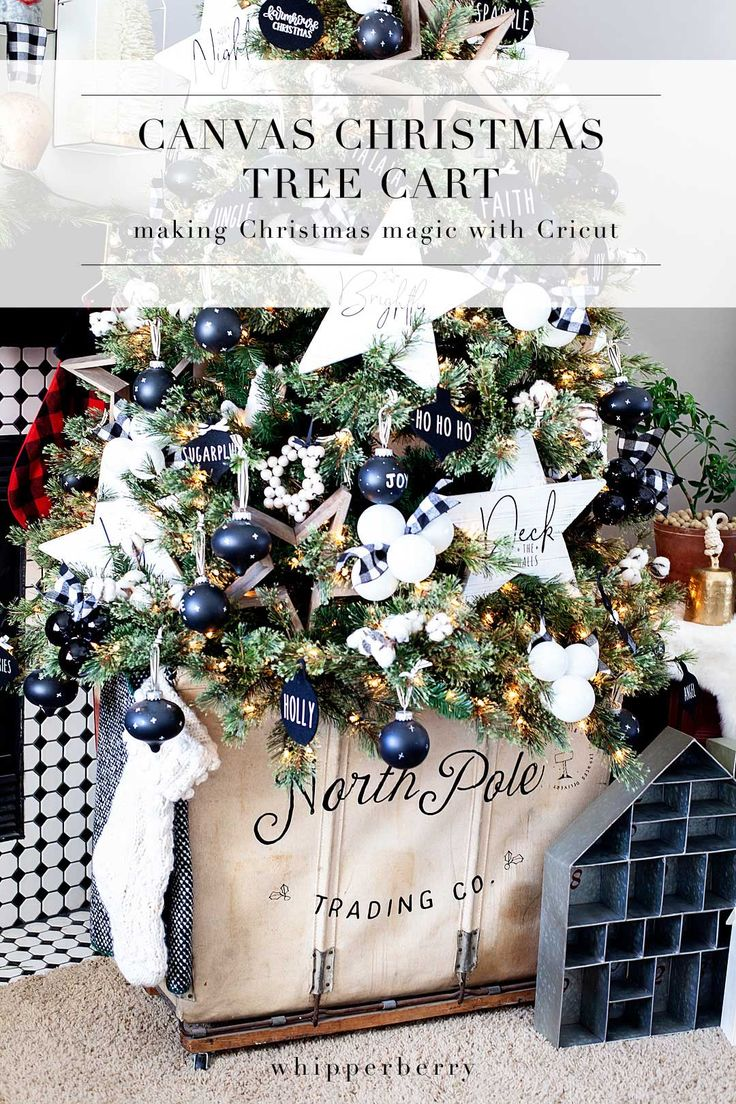 DIY Crafts : Create a beautiful canvas Christmas Tree Cart with