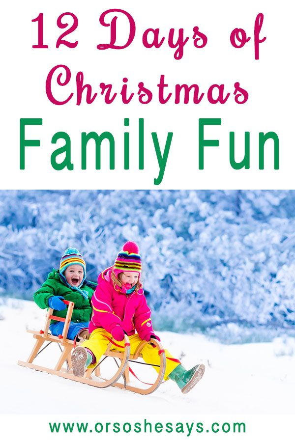 12 Days of Christmas Family Fun ~ AWESOME family tradition that the kids will LO...