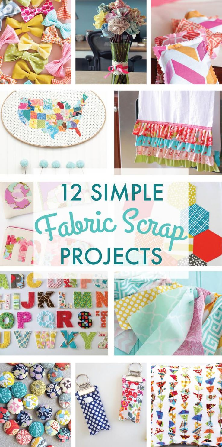 Diy Crafts 12 Simple Scrap Fabric Projects On Love The Day