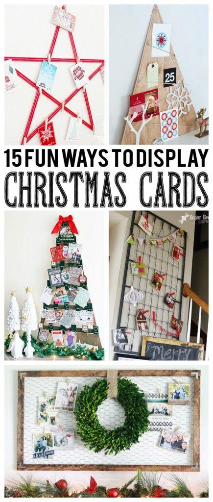 Diy Crafts 15 Fun Ways To Display Christmas Cards Eighteen25