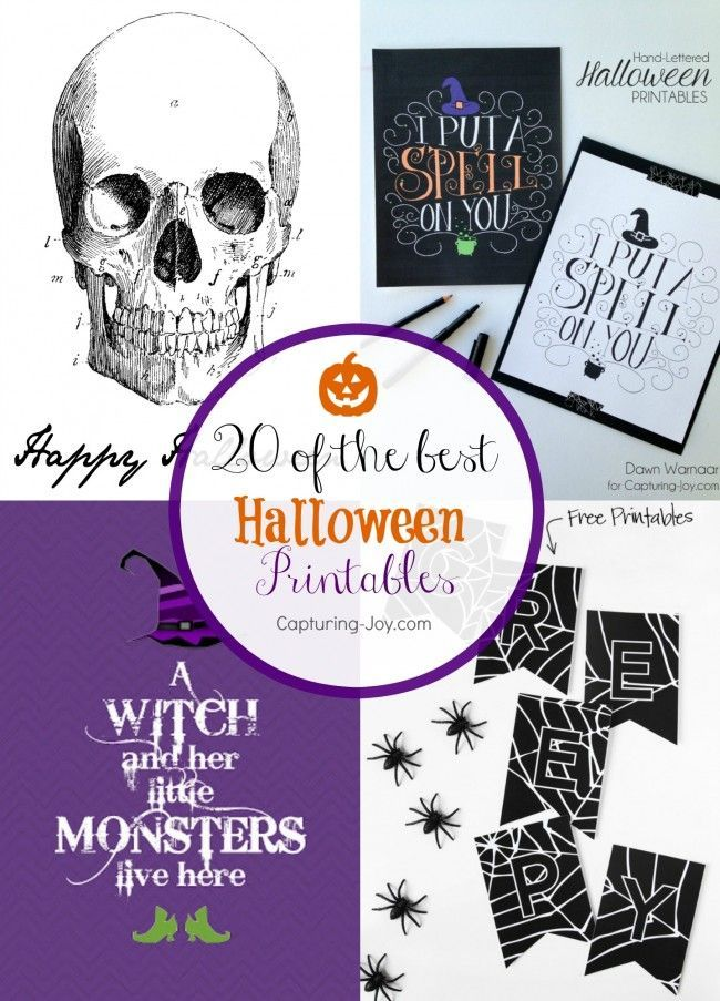 20 Halloween Printable Decorations, a quick and easy way to decorate for the hol...