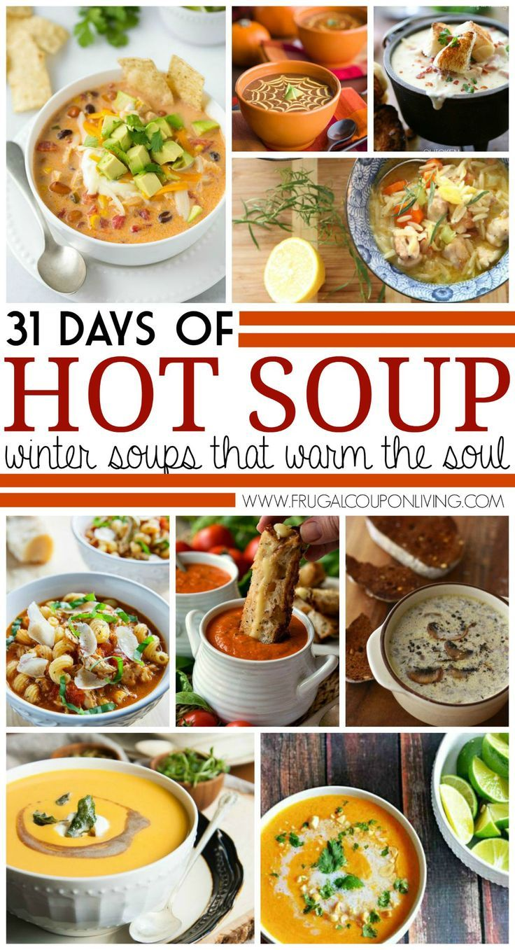 31 Days of Fall and Winter Soups on Frugal Coupon Living | Fall Recipes | Fall S...