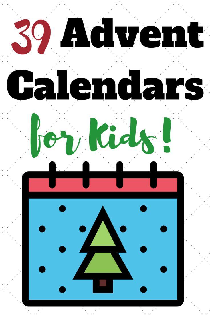 39 Advent Calendars for Kids #adventcalendar #christmas www.orsoshesays.com