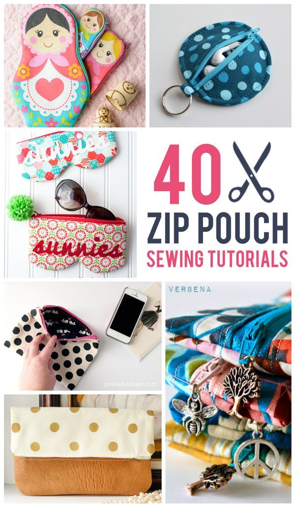 Diy Crafts 40 Zip Pouch Sewing Tutorials Diyall Net Home Of