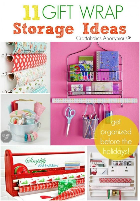 A lot of DIY organization for your wrapping crafts! There is an idea in here for...