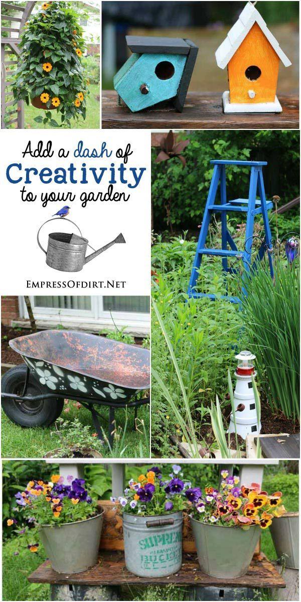 Diy Crafts Add A Dash Of Creativity To Your Garden With Garden Art