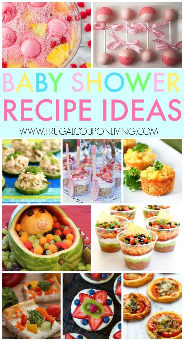 Baby Shower Recipes Ideas, baby shower games and more on Frugal Coupon Living. #...