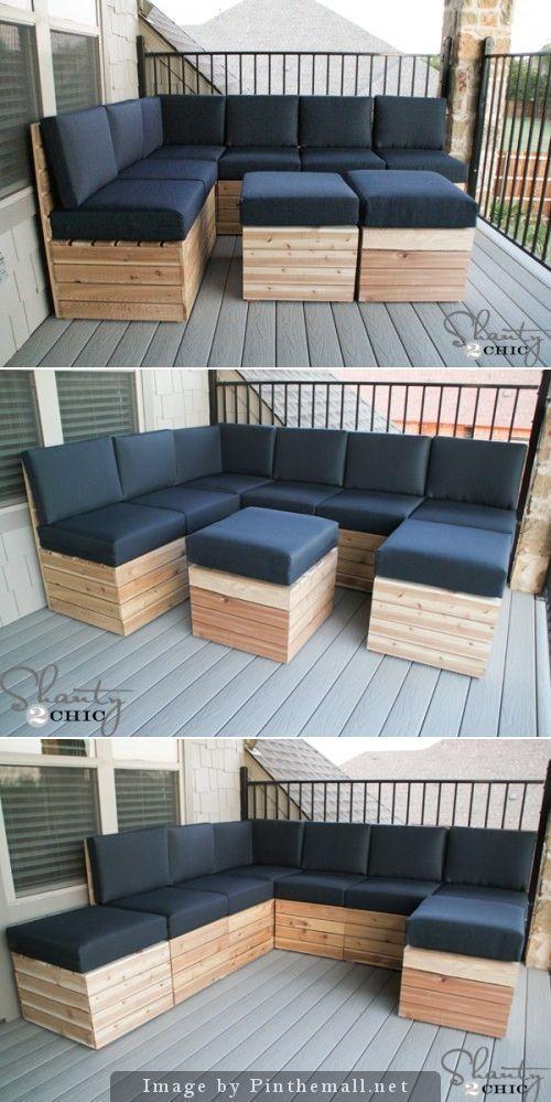 Beautiful modular outdoor furniture set