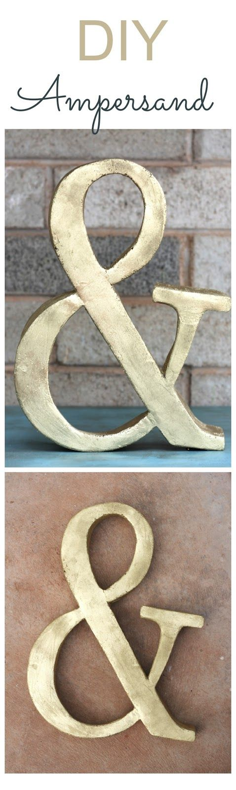 Diy Crafts Can You Believe That This Is A Diy Ampersand Wow You Will Not Guess What Diyall Net Home Of Diy Craft Ideas Inspiration Diy Projects