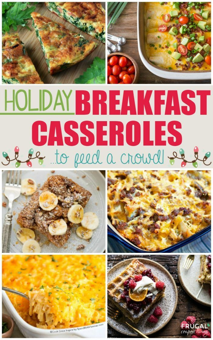 Christmas Breakfast Casseroles to feed a crowd. Large Thanksgiving Breakfast Rec...