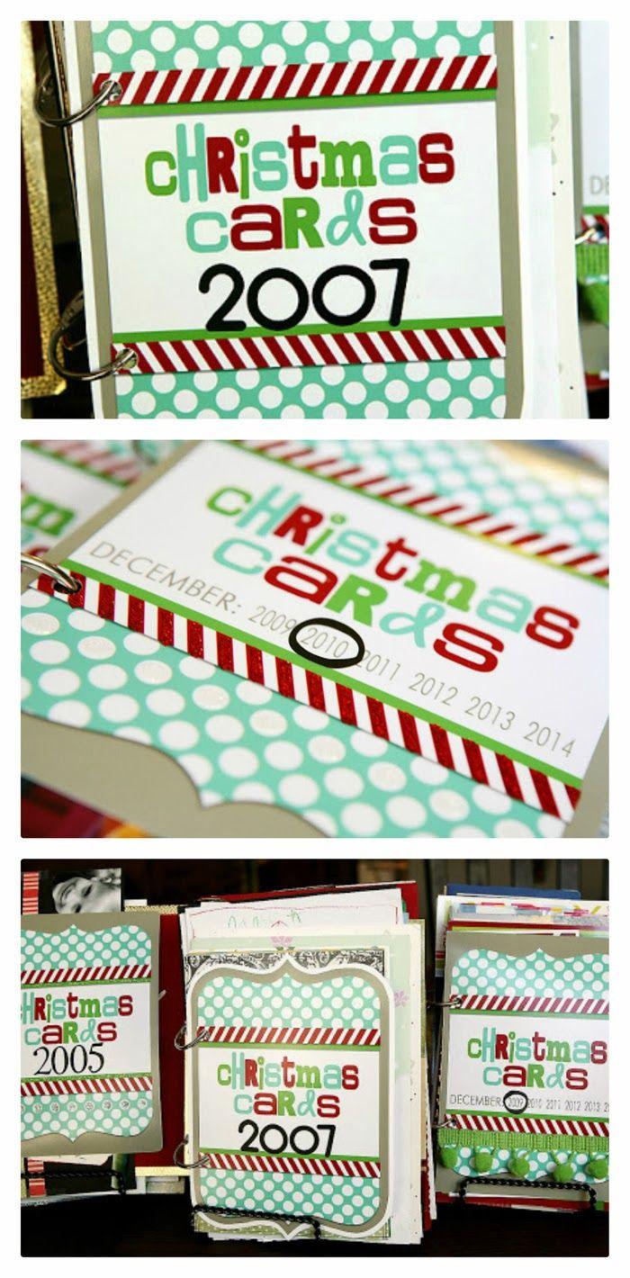 Christmas Card Books | Fun way to save all those fun Photo Christmas Cards!