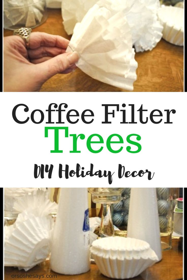 Coffee Filter Trees are a simple holiday DIY decor idea you can do with the kids...