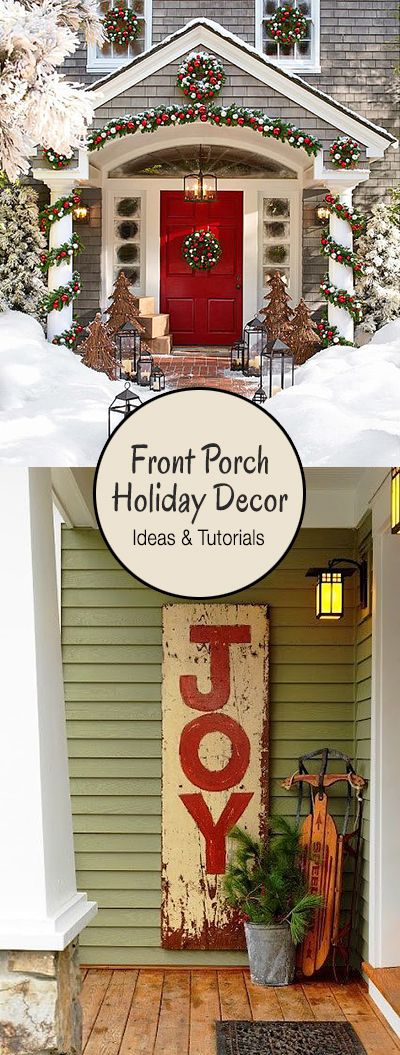Creative Ways to Decorate your Front Porch for the Holidays • Ideas & Tutorial...