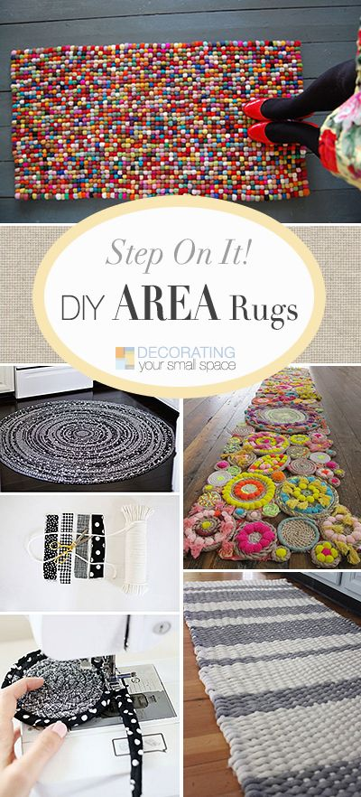 DIY Area Rugs • Lots of Ideas, Projects & Tutorials to make your own area rug!...