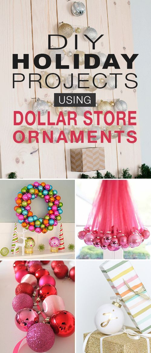 DIY Christmas Decorations and Holiday Projects Using Dollar Store Ornaments! •...