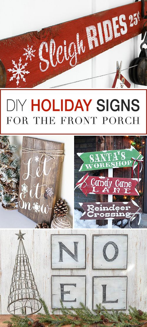 DIY Christmas Signs for the Front Porch! • Tons of tutorials. • Great Christ...